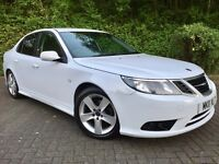 2011 SAAB 9-3 1.9 TiD 150 VECTOR SPORT••LEATHERS••P/SENSORS••WHITE••Insignia••Audi••Bmw