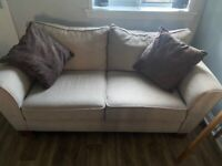 3 and 2 seater suite with foot stool