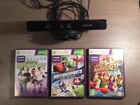 Xbox 360 Kinect + Games