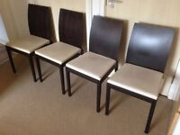 Habitat Ruskin Oak Dining Chairs x4