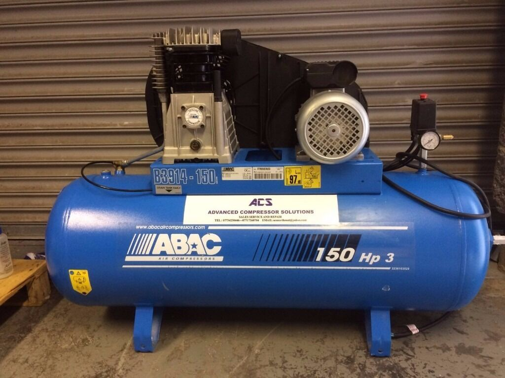 ABAC 150 hp3 compressorin Cramlington, NorthumberlandGumtree - abac compressor 3 hp 14 cfm 240v in as new condition very little use