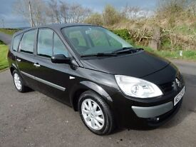 2007 renault grand scenic 1.6 7 seater low miles good example .motd march 2018