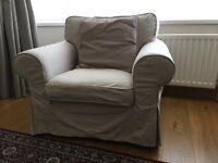 Nearly new IKEA ecktorp armchair.