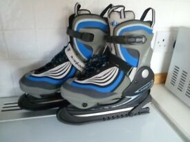 Blue B SQUARE Ladies adjustable size ice skates (sizes UK 4-6)