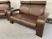 STUNNING CREATIONS ~ 3 & 2 ~ LUXURY FULL LEATHER SOFAS SUITE