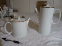 Matching white china coffee and teapot. Make: 'Thomas Germany'