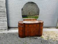 Vintage mirror backed dressing table