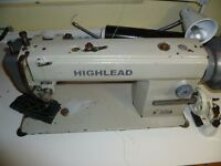 Highlead TOP & BOTTOM FEED WALKING FOOT MACHINE for Leather, Handbags,