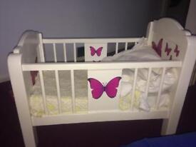 Dolls cot bed