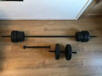 Dumbbells and Barbell