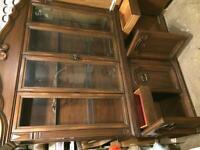 Solid hardwood vintage China display cabinets for sale