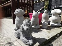 Hand cast heavy garden ornaments