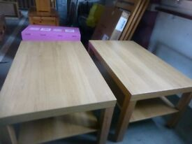 2 Coffee Tables with Shelf