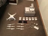 DJI Phantom 4 and Phantom 3 with loads of extras.