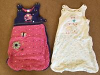 2x Baby Sleeping Bags: 0 - 6 months - £8