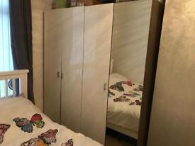 Wardrobes - 2 doubles (one with mirrored door) great condition - £100