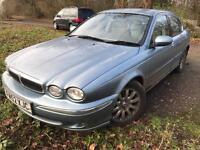 Jaguar x-type 2.5 v6 awd 2003, petrol, blue, manual, 68k s/h, 1 owner, (spares or repairs)