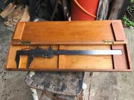 "Vintage Chesterton 12"" Vernier calliper No. 770/1 in wooden case."
