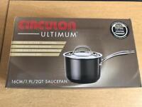 Brand new circulon ultimum 16cm 1.9L saucepan