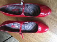 Next red patent heels