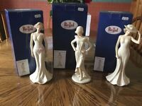 """Regal House Collection SBL Figurines 3 Stunning Lady Ornaments 10"""" high"""