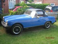 mg midget in fair condition runs well spare wheels if required
