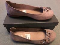 Ladies shoes - size 7 - suede - worn inside only