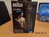 mens braun cruzer 6 wet and dry body razor