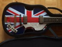 Hofner Jubilee Violin Bass Guitar HCT, Limited Edition Jubilee Union Jack, Paul McCartney Beatles