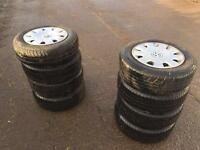 8 Volkswagen Golf tyres with plastic trims for sale
