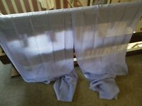"""pair of lilac tab top voile curtains 60"""" x 90"""" new"""
