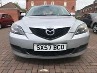 MAZDA 3 TS 1.6 PETROL HATCHBACK SILVER 5 DRS EXCELLENT CONDITION MOT ENDS 4 JANUARY 2019