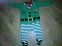 Super Cute Santa's Little Helper Suit!! - 3-6 Months