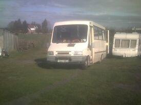 iveco 2.8 bus / mobile shop / camper con .