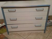 Blue and White Chest of Drawers