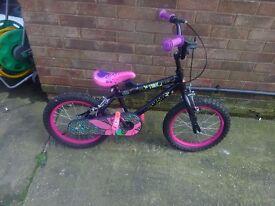 Tink black and pink girls bike 16inch wheels