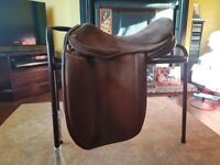 16 inch medium wide Brown Suede Flyde Devina Saddle