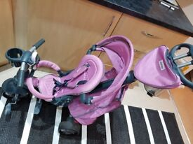 Smart Trike 4 in 1 pink and grey