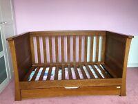Mamas & Papas Ocean Cot and Dresser/Changing Table - Dark Oak