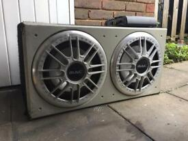 2 x 12 inch sub and alpine mono amplifier