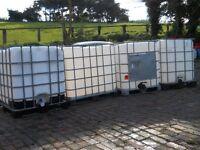 1000 Litre IBC Tank / Container. Water / Diesel or Bio fuel Storage. Temporary Aquarium etc