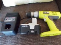Ryobi one+ with charger and 18 volt battery bargain price £40