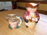 2 x toby/character jugs,