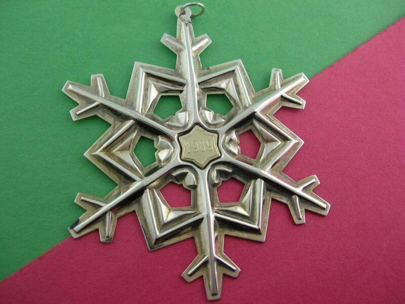 Sterling GORHAM Christmas Snowflake Ornament 1989