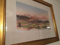Framed South of France by Prince Charles watercolour print