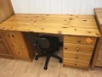 Pine dressing table / computer desk