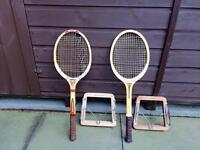 Wooden tennis racquets