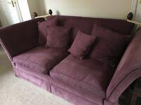 Laura Ashley sofa in aubergine
