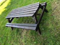 WOODEN LARGE PUB STYLE PICNIC BENCH TABLE PATIO GARDEN SEAT