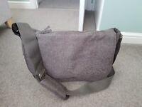 Grey mothercare baby changing bag